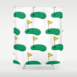I like big putts Shower Curtain