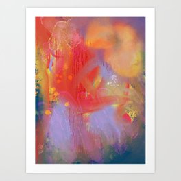 Abstract Summer Flowers in the Sun Art Print