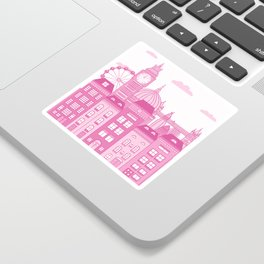 London Skyline Pink Sticker