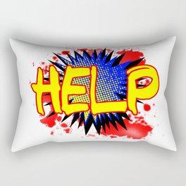 Help Comic Exclamation Rectangular Pillow