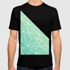 B Rays Geo Gradient Green Black Mens Fitted Tee MEDIUM