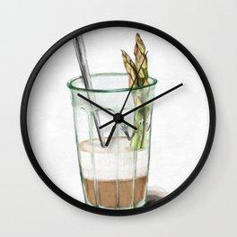 La Cuisine Fusion - Aspargus Latte Wall Clock