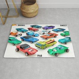 1968 Sweet 16 Original Hot wheels Redlines Vintage Poster Rug