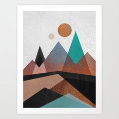 Copper Mountains Art Print
