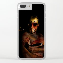 he's a mummy's boy really Clear iPhone Case