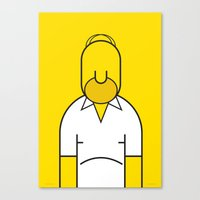 homer Canvas Prints featuring Homer by Ale Giorgini