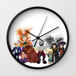 Vox Machina, Critical Role Colour Art Wall Clock
