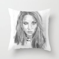 katniss Throw Pillows featuring Katniss by S'ANNie