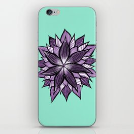 Purple Mandala Like Abstract Flower iPhone Skin