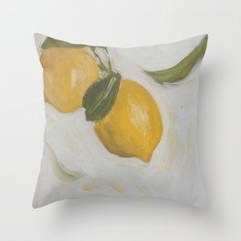 Flying Italian Lemons Throw Pillow