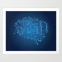 Electric brain Art Print