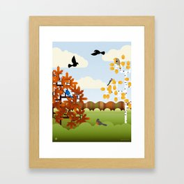 A Fine Autumnal Day Framed Art Print