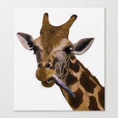 la jirafa Canvas Print