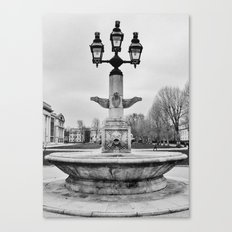Fountain B&W Canvas Print