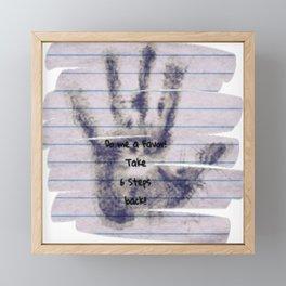 Take 6 Steps Back Framed Mini Art Print