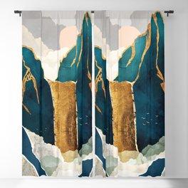 Golden Waterfall Blackout Curtain