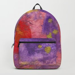 Autumn Leaves |Abstract with Gold Watercolor Backpack