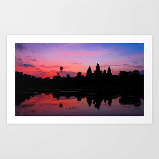 Angkor Wat Sunrise Reflection Art Print