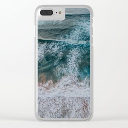Sea from above Clear iPhone Case