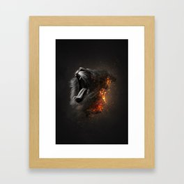 XTINCT x Lion Framed Art Print