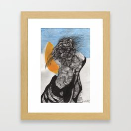 """Son He Sided Up As He Awoke"" Framed Art Print"