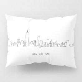 New York City Skyline Drawing Pillow Sham