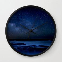 Dark Night California Coastal Waters Wall Clock