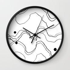 Sketch with skewers Wall Clock