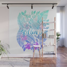 Killin' It – Turquoise + Lavender Ombré Wall Mural