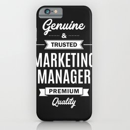 Marketing Manager iPhone Case