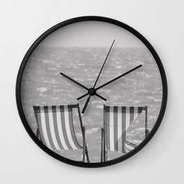 Vintage Deck Chairs. Wall Clock