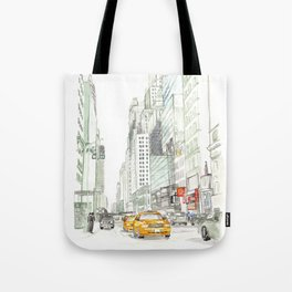 New York City Taxi Tote Bag