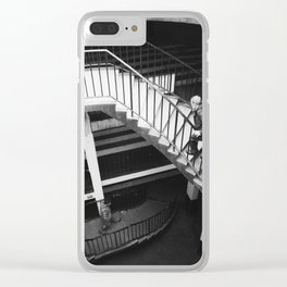 winding staircase Clear iPhone Case