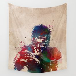 American football player 3 Wall Tapestry