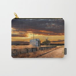 Sunset at the Coonawarra Rail Station Carry-All Pouch