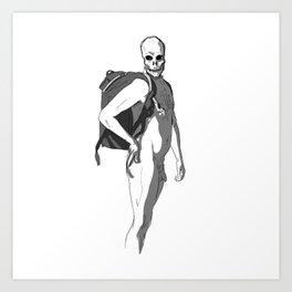 Flirting with death Art Print