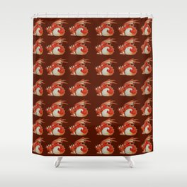 Baby Red Dragon Shower Curtain
