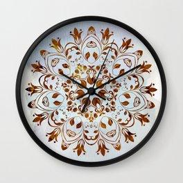 golden mandala design Wall Clock