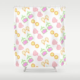 SUMMER GLASSES! SUMMER COLLECTION! Shower Curtain