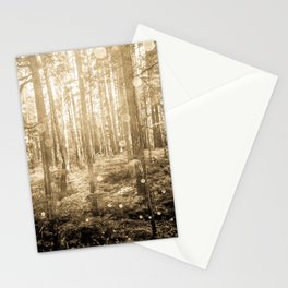 Vintage Sepia Fairy Forest Stationery Cards