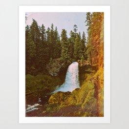 Koosah Falls Art Print