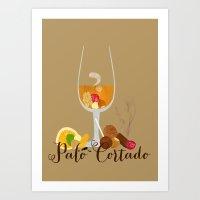 palo alto Art Prints featuring Palo Cortado by Elisandra