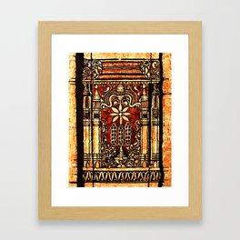 Bohemian Carvings Framed Art Print