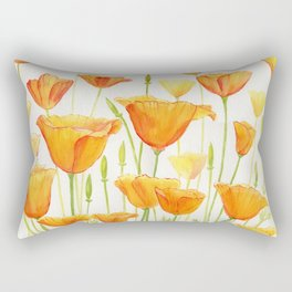 Blossom Poppies Rectangular Pillow
