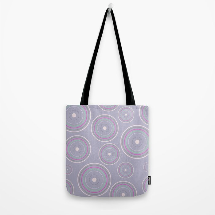 CONCENTRIC CIRCLES IN BLUE (abstract pattern) Tote Bag