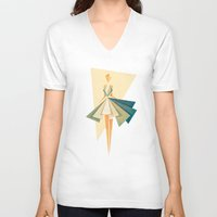 marilyn V-neck T-shirts featuring Marilyn by VessDSign