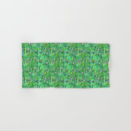 Pink Clover Flowers on Green Field, Floral Pattern Hand & Bath Towel