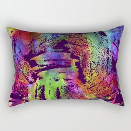 Rainbow cool brush Rectangular Pillow