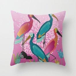 Bird Pond Throw Pillow