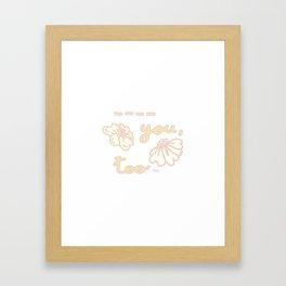 Fill in the Blanks! Framed Art Print
